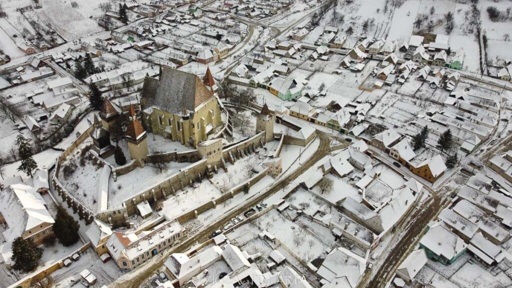 Biserica evanghelică fortificată din Biertan (1490-1524) - Blog de calatorii - ZIGZAG PE HARTĂ - DJI 0563